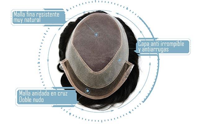 descripciones de materiales de la protesis nemeron