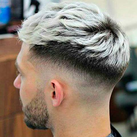 Two Color Undercut Hairstyle for Men