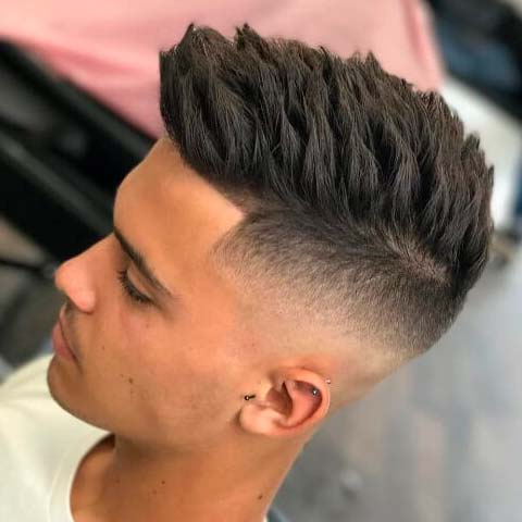 Undercut Hairstyle for Men with Spiky Hair