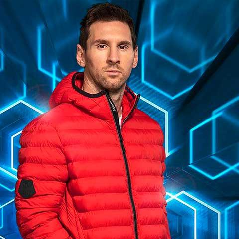 peinado con rayas de Messi