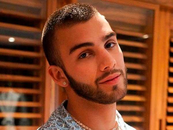 cortes de cabello para hombre cara redonda en Manuel Turizo